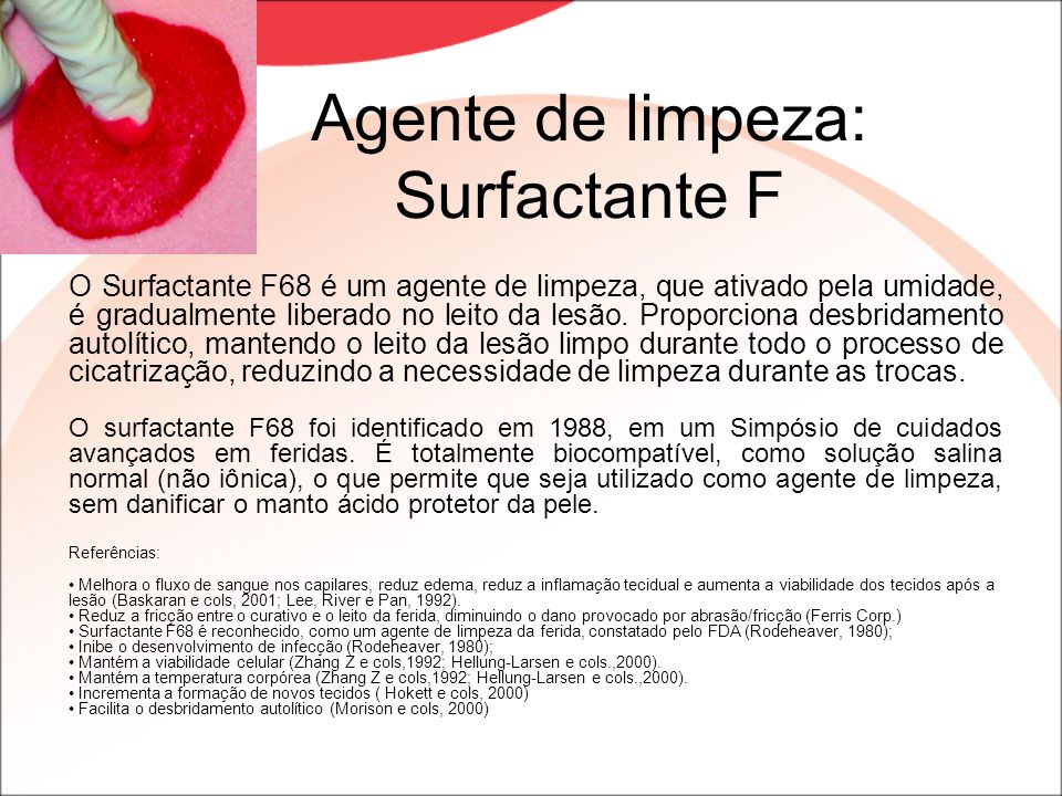 Agente de limpeza: Surfactante F