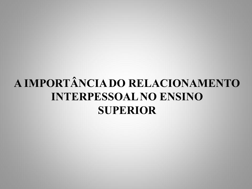 A IMPORTÂNCIA DO RELACIONAMENTO INTERPESSOAL NO ENSINO