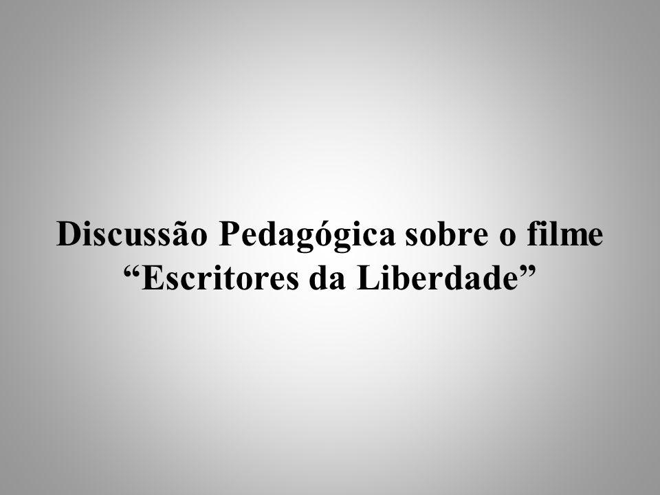 Discussão Pedagógica sobre o filme Escritores da Liberdade