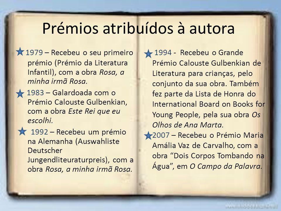 Prémios atribuídos à autora