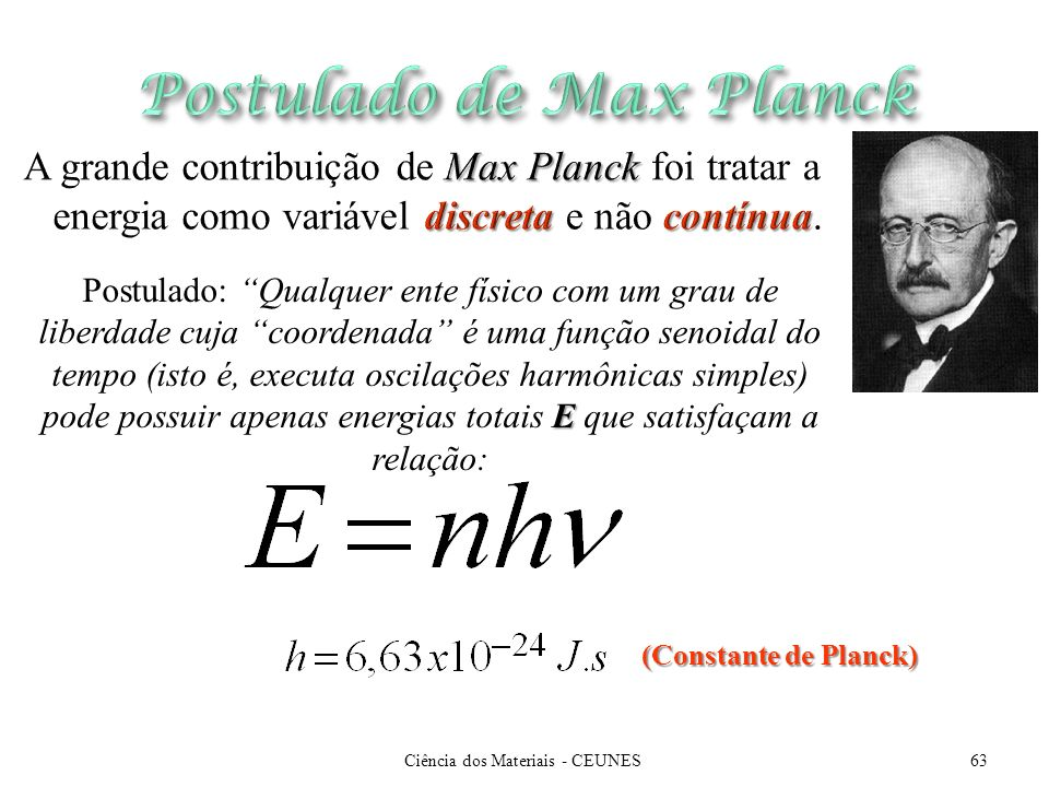 Postulado de Max Planck