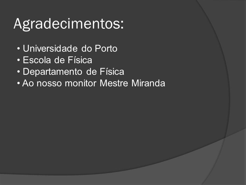 Agradecimentos: Universidade do Porto Escola de Física