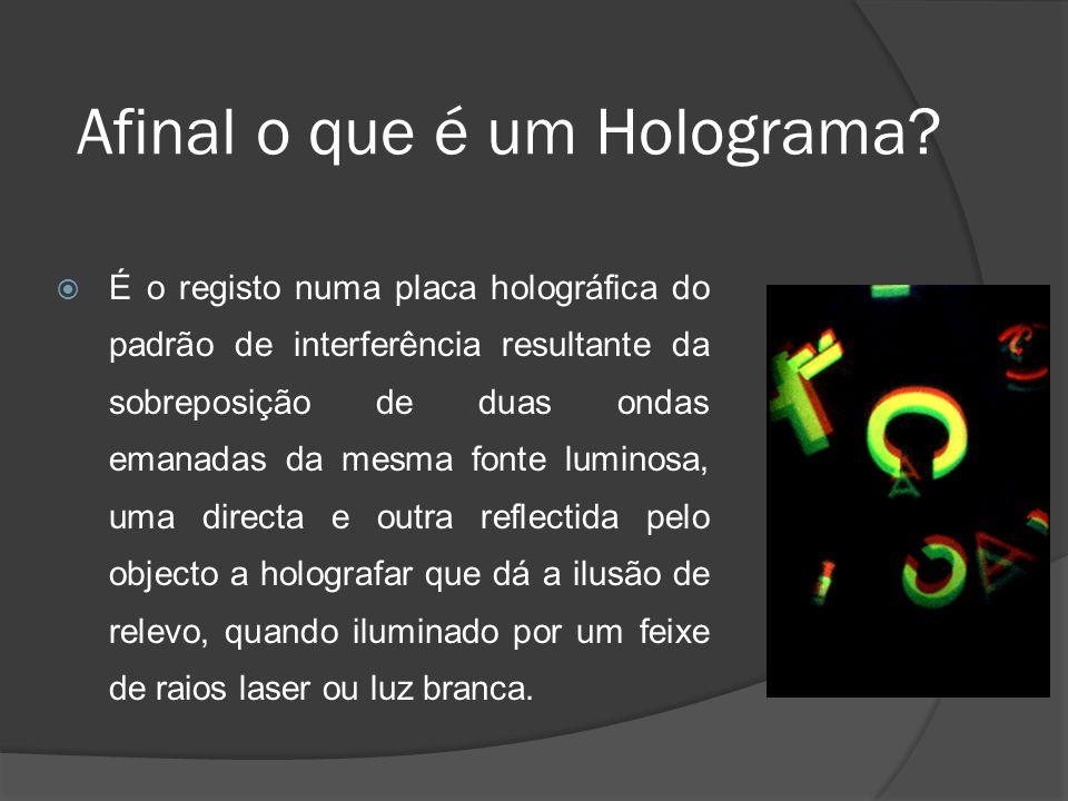 Afinal o que é um Holograma