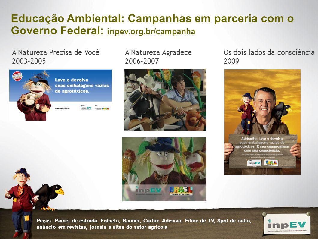 Educação Ambiental: Campanhas em parceria com o Governo Federal: inpev