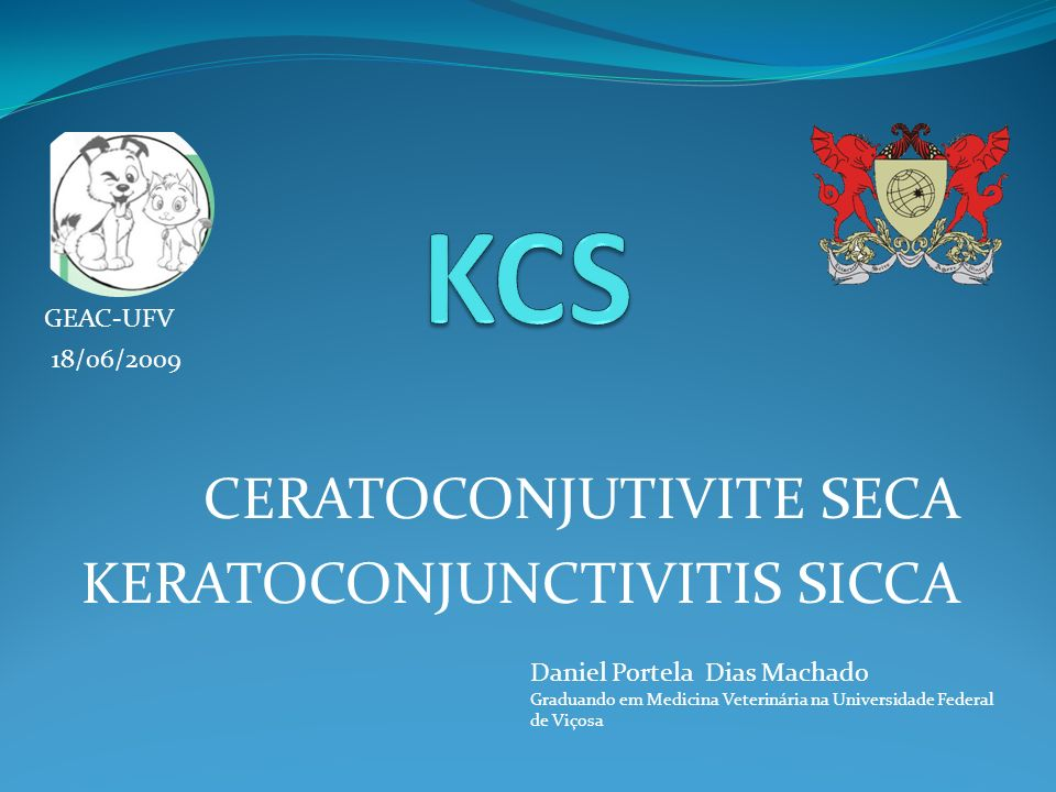 CERATOCONJUTIVITE SECA KERATOCONJUNCTIVITIS SICCA