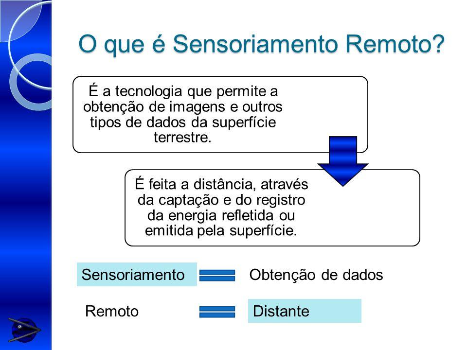 O que é Sensoriamento Remoto