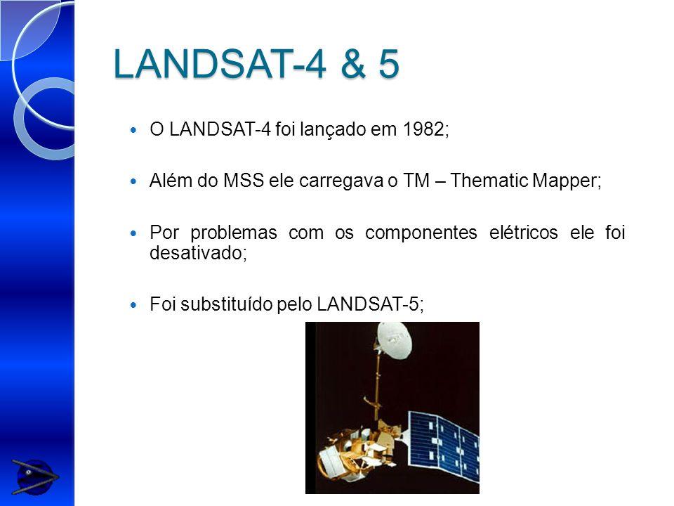 LANDSAT-4 & 5 O LANDSAT-4 foi lançado em 1982;