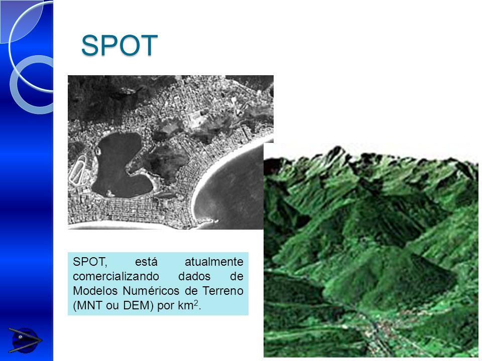 SPOT SPOT, está atualmente comercializando dados de Modelos Numéricos de Terreno (MNT ou DEM) por km2.