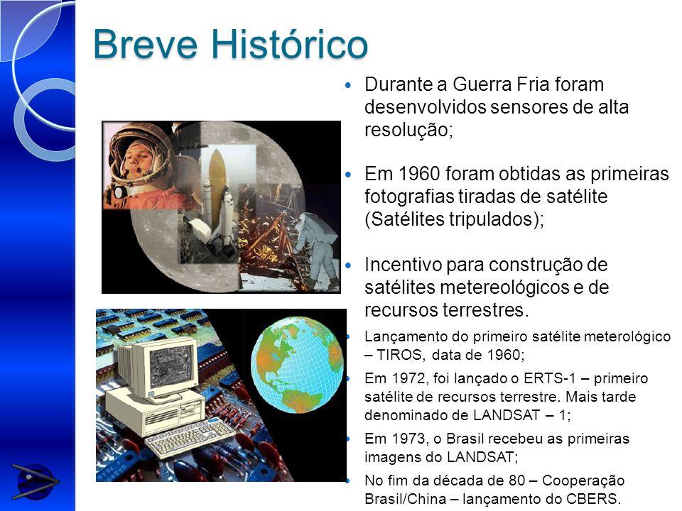 Breve Histórico Durante a Guerra Fria foram desenvolvidos sensores de alta resolução;