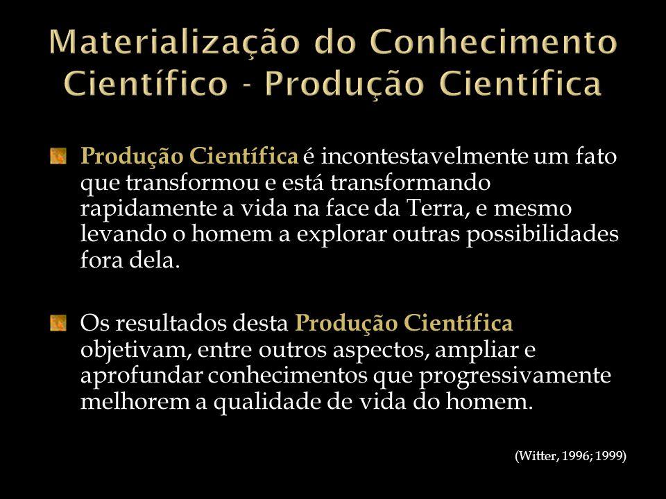 Materialização do Conhecimento Científico - Produção Científica