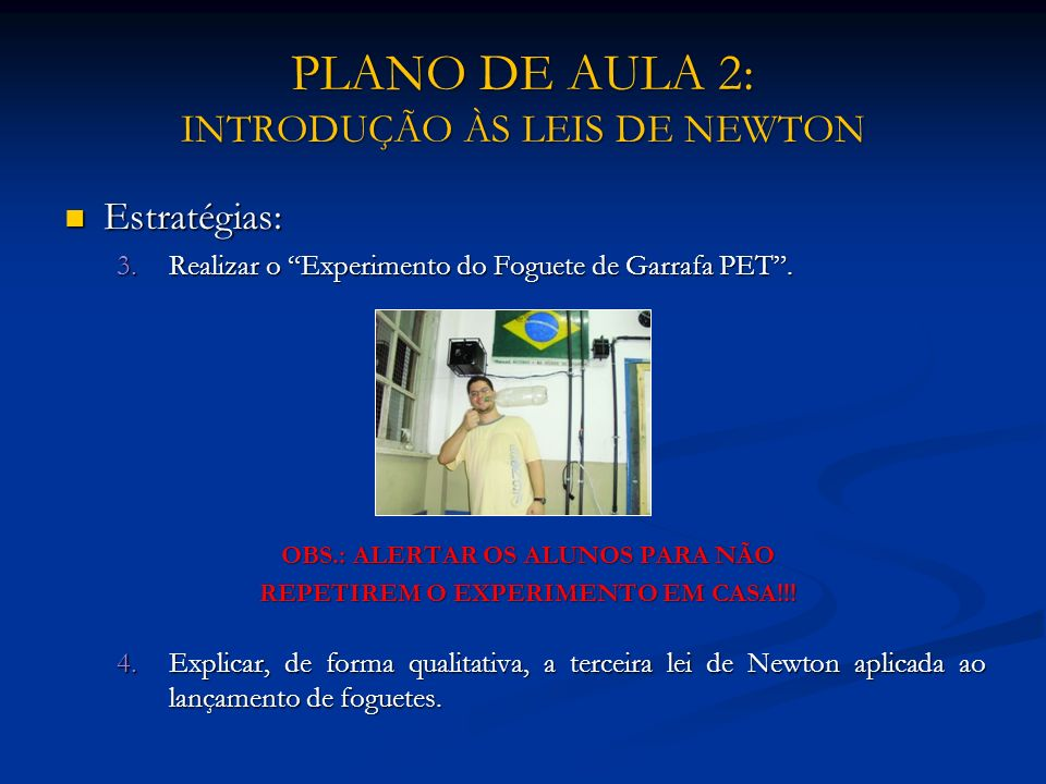 PLANO DE AULA 2: INTRODUÇÃO ÀS LEIS DE NEWTON