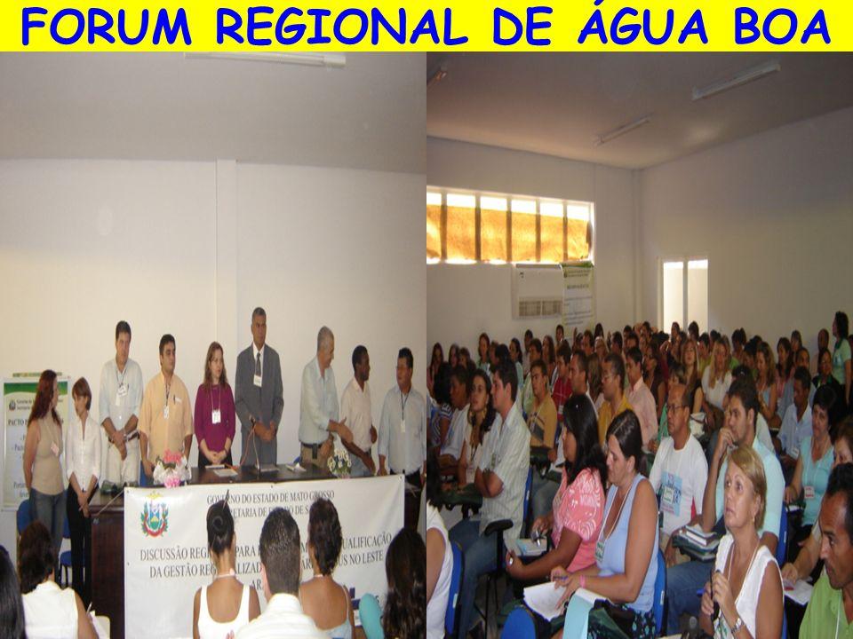 FORUM REGIONAL DE ÁGUA BOA