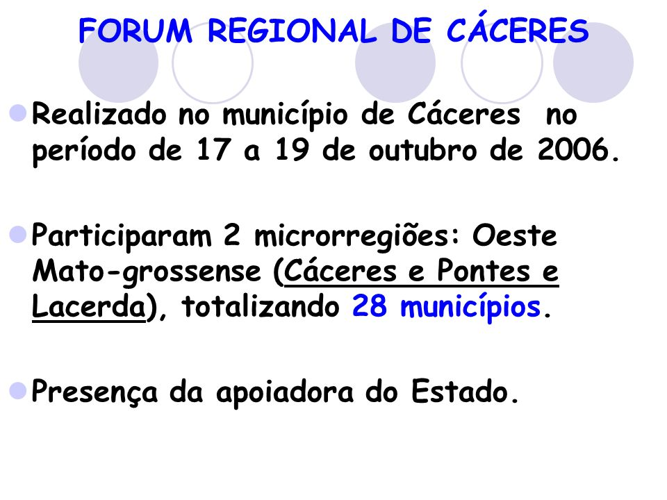 FORUM REGIONAL DE CÁCERES