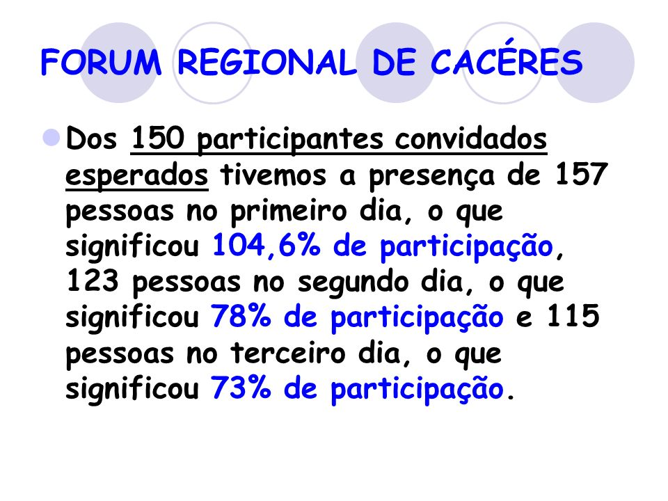 FORUM REGIONAL DE CACÉRES