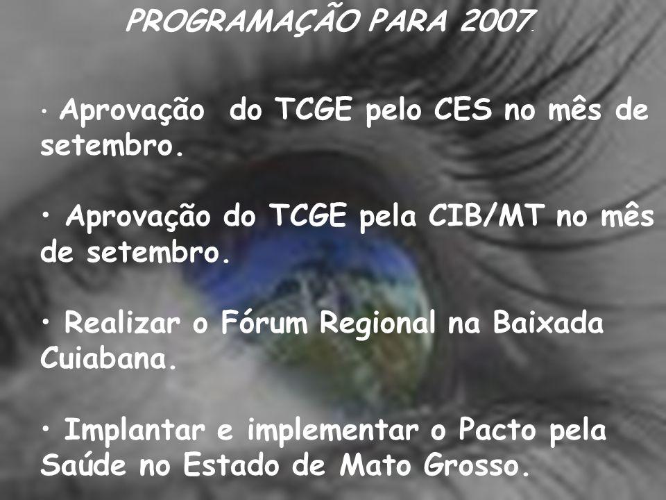 Aprovação do TCGE pela CIB/MT no mês de setembro.