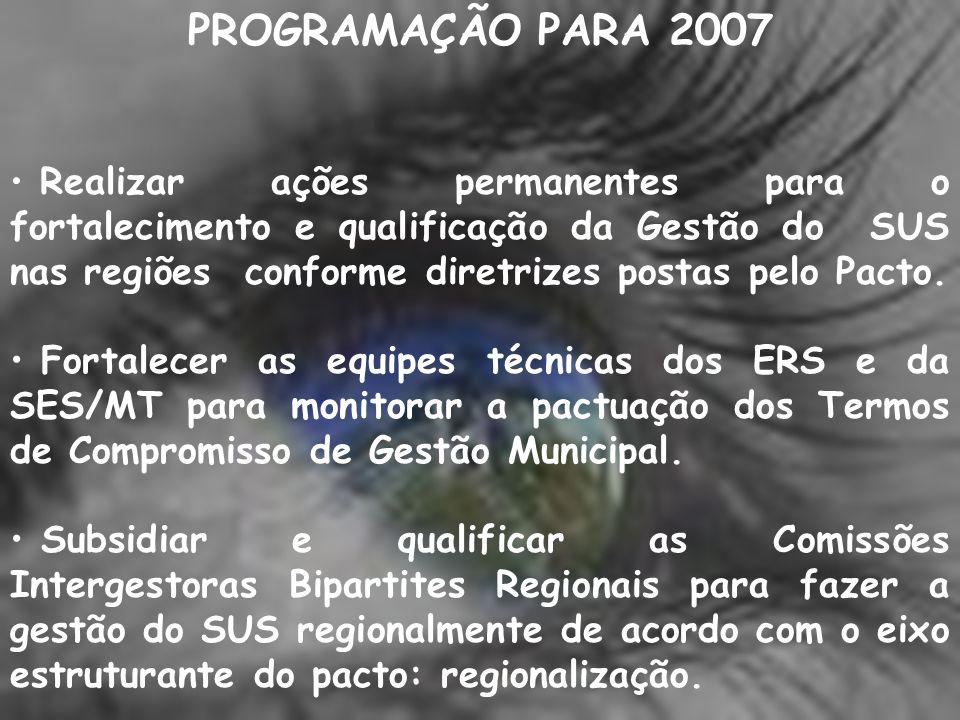 PROGRAMAÇÃO PARA 2007