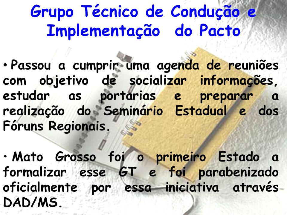 Grupo Técnico de Condução e Implementação do Pacto