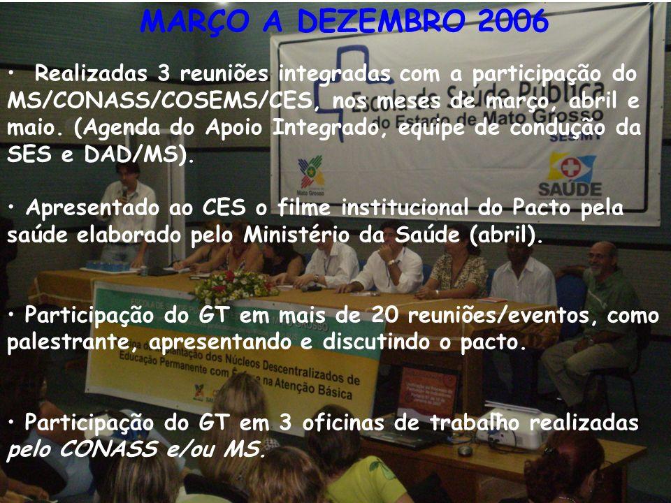 MARÇO A DEZEMBRO 2006