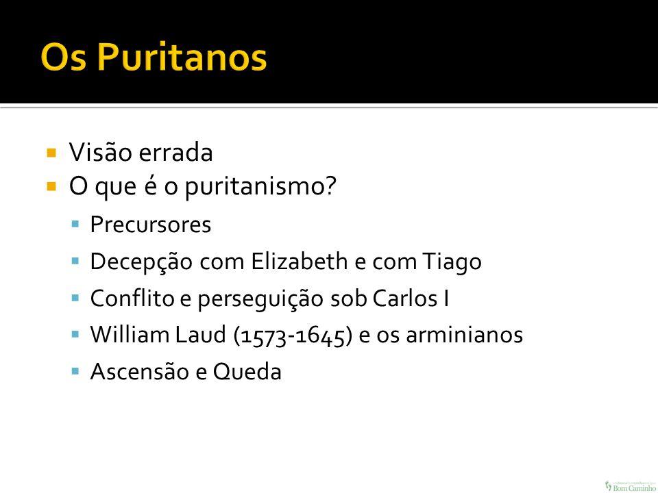 Os Puritanos Visão errada O que é o puritanismo Precursores