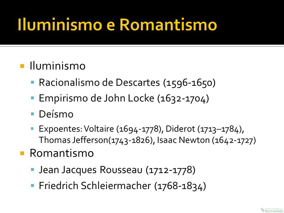 Iluminismo e Romantismo