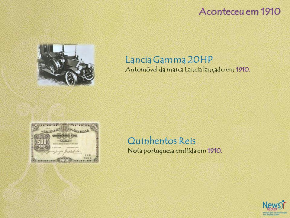 Aconteceu em 1910 Lancia Gamma 20HP Quinhentos Reis