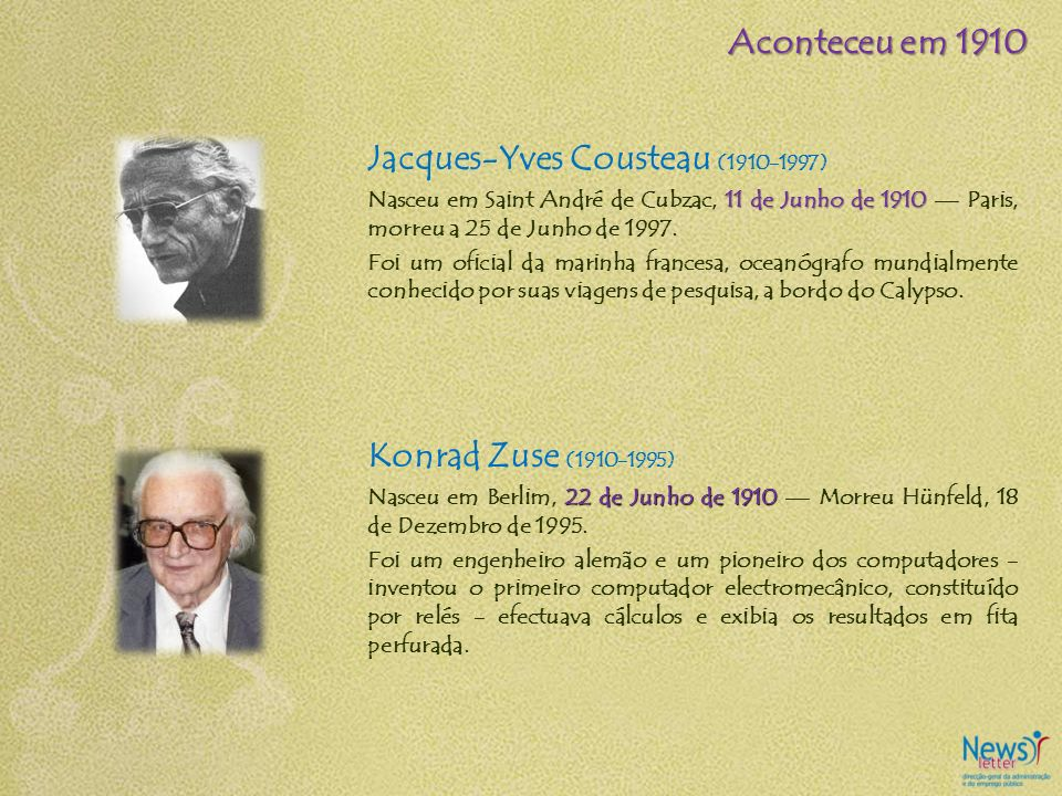 Jacques-Yves Cousteau (1910-1997)
