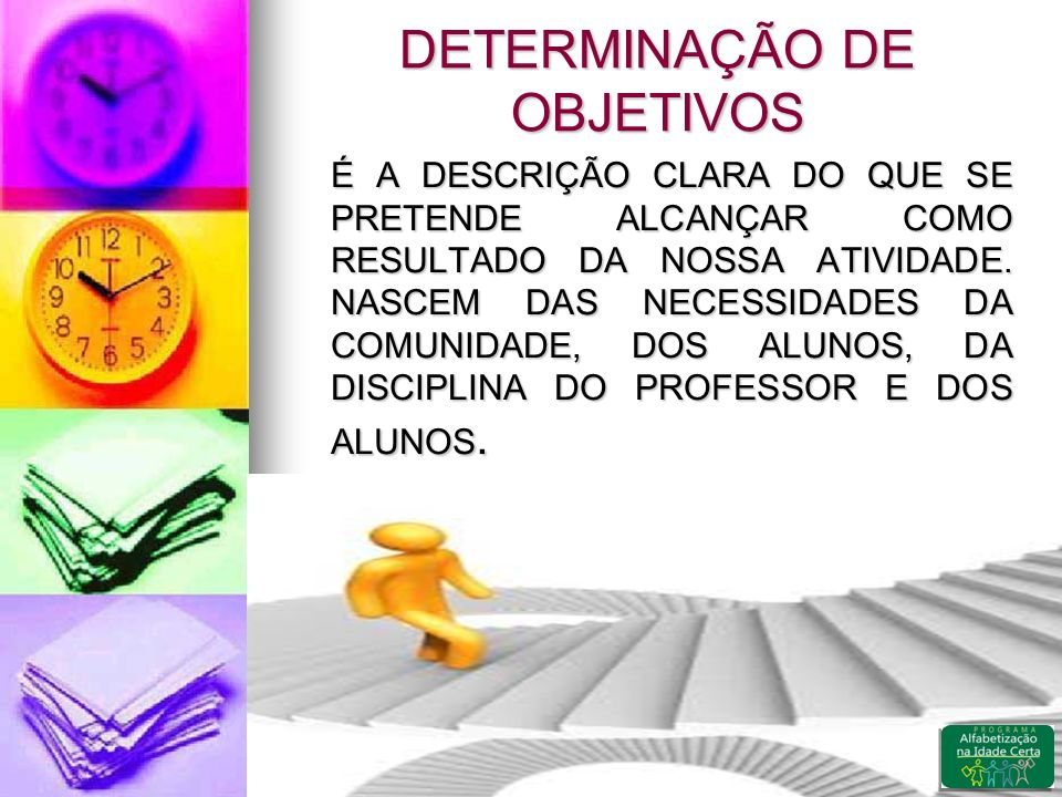 DETERMINAÇÃO DE OBJETIVOS