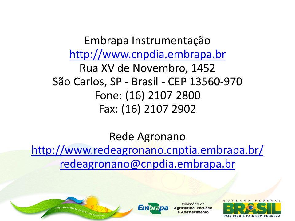 Embrapa Instrumentação http://www. cnpdia. embrapa