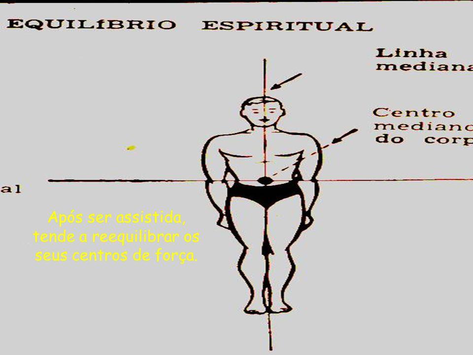 Após ser assistida, tende a reequilibrar os seus centros de força.