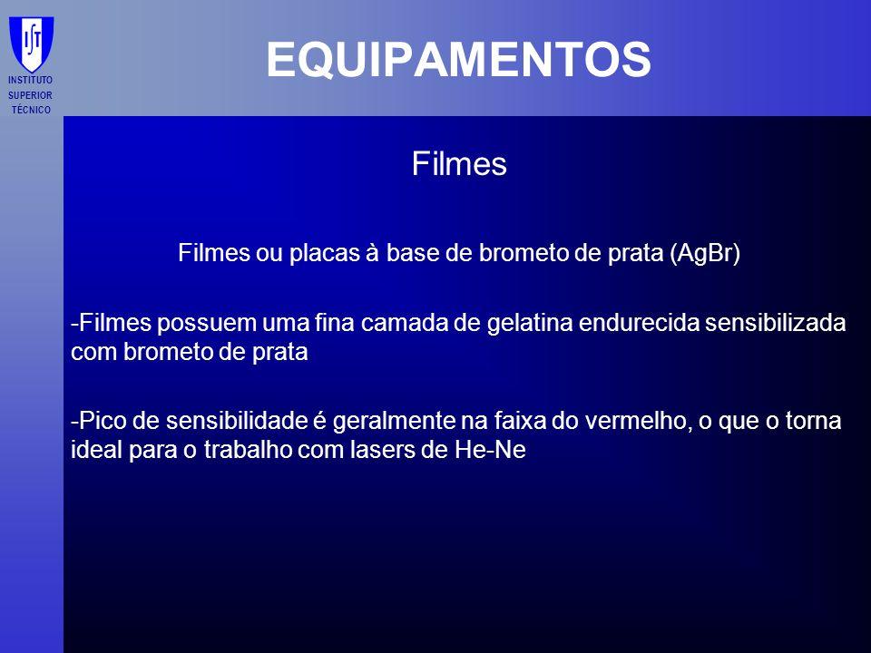 Filmes ou placas à base de brometo de prata (AgBr)