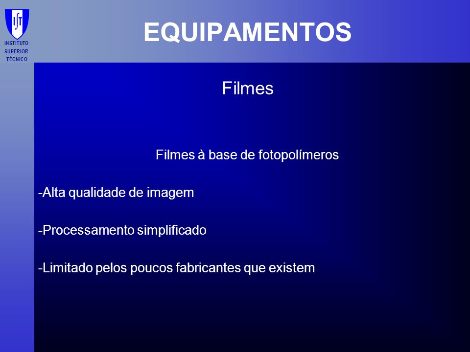 Filmes à base de fotopolímeros