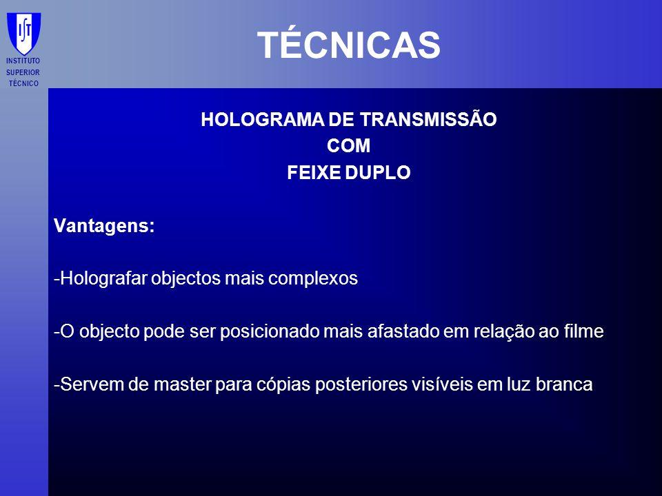 HOLOGRAMA DE TRANSMISSÃO
