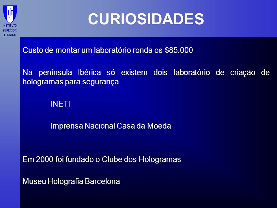 CURIOSIDADES Custo de montar um laboratório ronda os $85.000