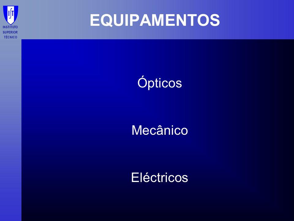 EQUIPAMENTOS Ópticos Mecânico Eléctricos