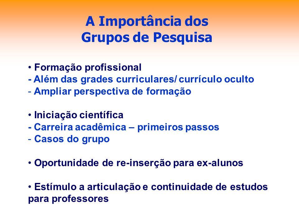 A Importância dos Grupos de Pesquisa