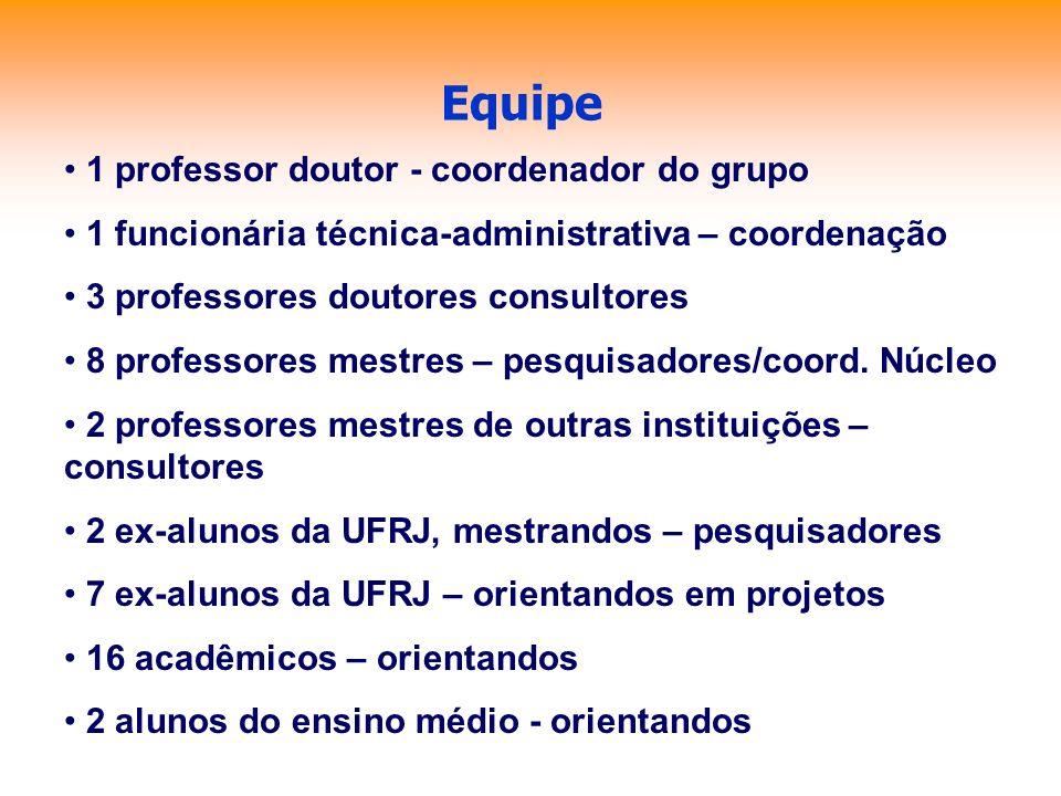 Equipe 1 professor doutor - coordenador do grupo