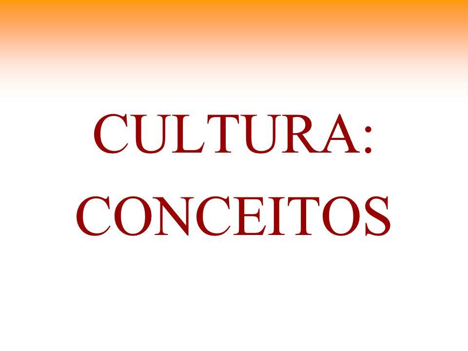 CULTURA: CONCEITOS