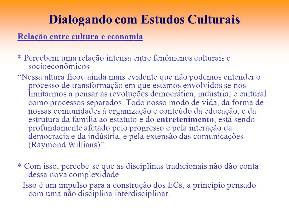 Dialogando com Estudos Culturais