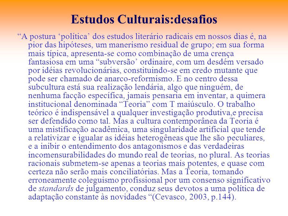 Estudos Culturais:desafios