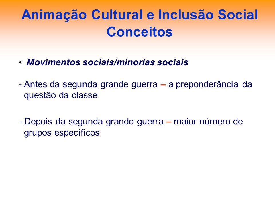 Animação Cultural e Inclusão Social Conceitos