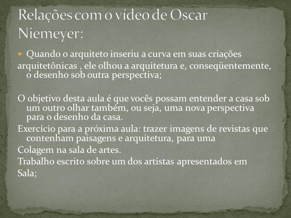 Relações com o vídeo de Oscar Niemeyer: