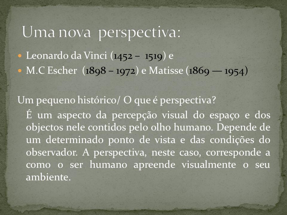 Uma nova perspectiva: Leonardo da Vinci (1452 – 1519) e
