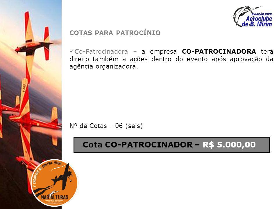 Cota CO-PATROCINADOR – R$ 5.000,00