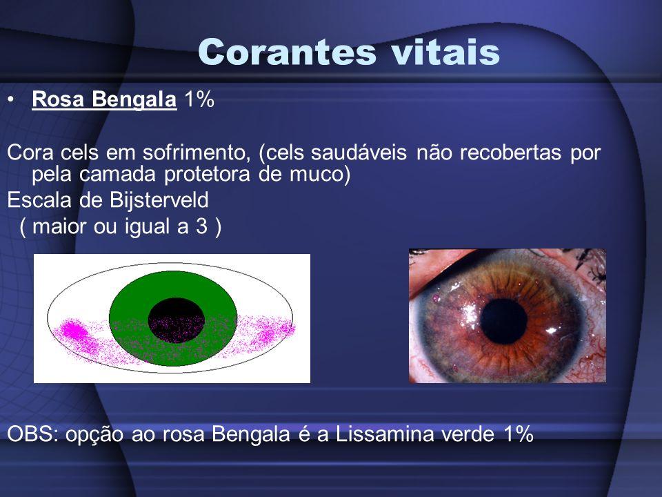 Corantes vitais Rosa Bengala 1%