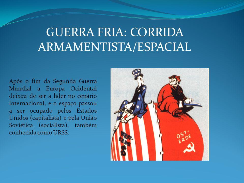 GUERRA FRIA: CORRIDA ARMAMENTISTA/ESPACIAL