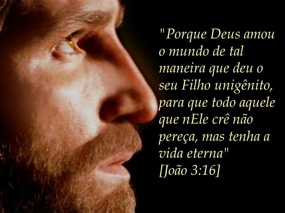 Porque Deus amou o mundo de tal maneira que deu o seu Filho unigênito, para que todo aquele que nEle crê não pereça, mas tenha a vida eterna