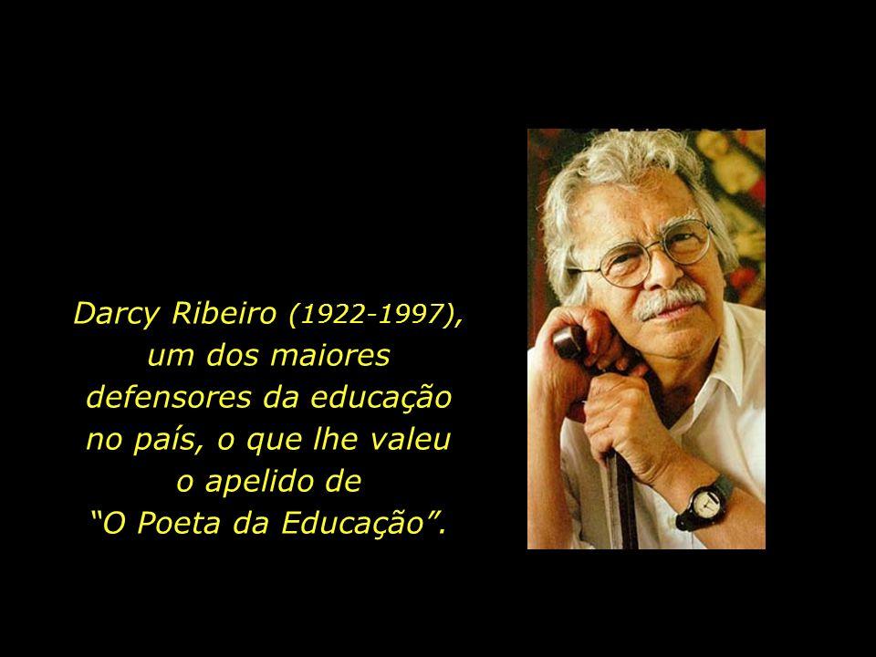 Darcy Ribeiro (1922-1997), um dos maiores defensores da educação no país, o que lhe valeu o apelido de O Poeta da Educação .