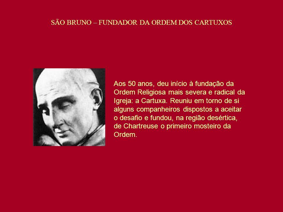 SÃO BRUNO – FUNDADOR DA ORDEM DOS CARTUXOS