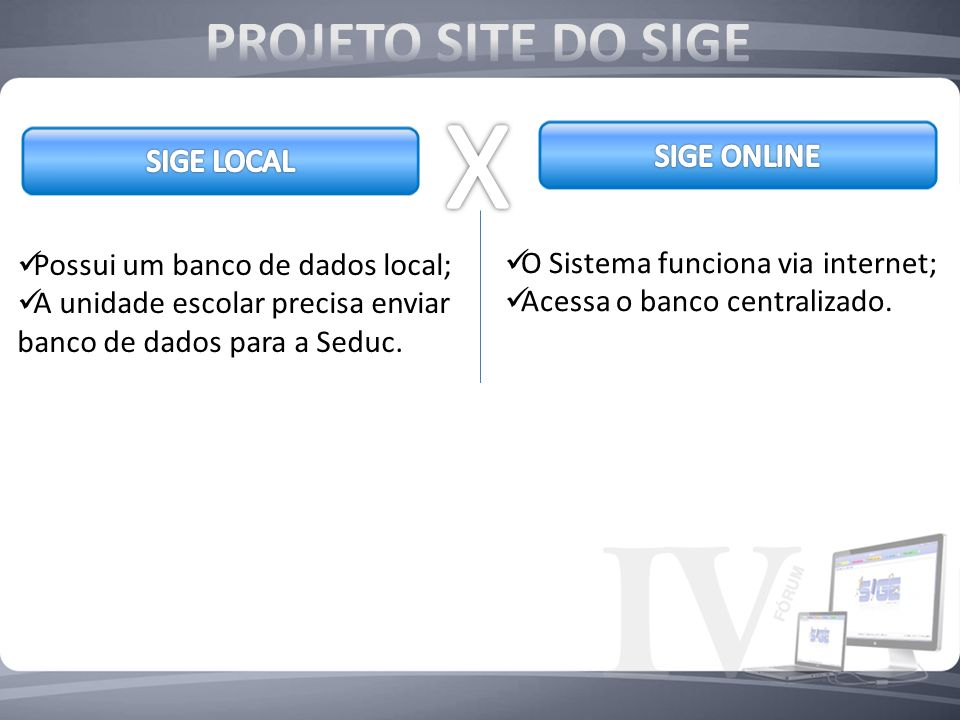 X PROJETO SITE DO SIGE SIGE ONLINE SIGE LOCAL