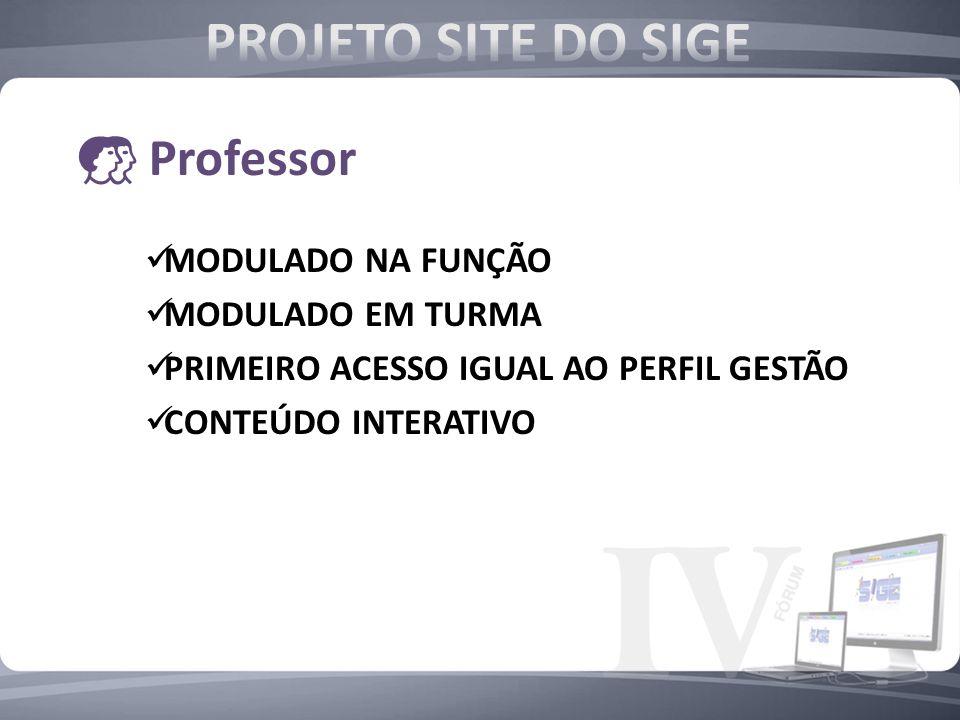 PROJETO SITE DO SIGE Professor MODULADO NA FUNÇÃO MODULADO EM TURMA